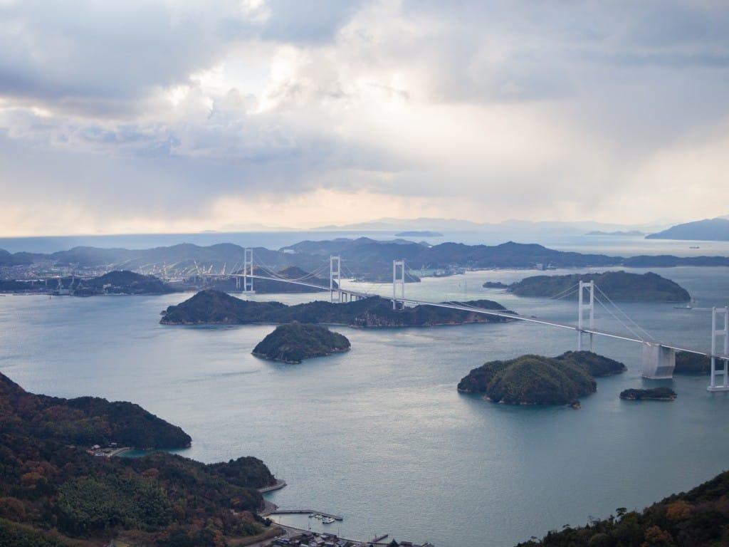 亀老山展望台 景色