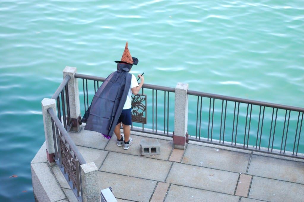 ハロウィンで魔女に変身