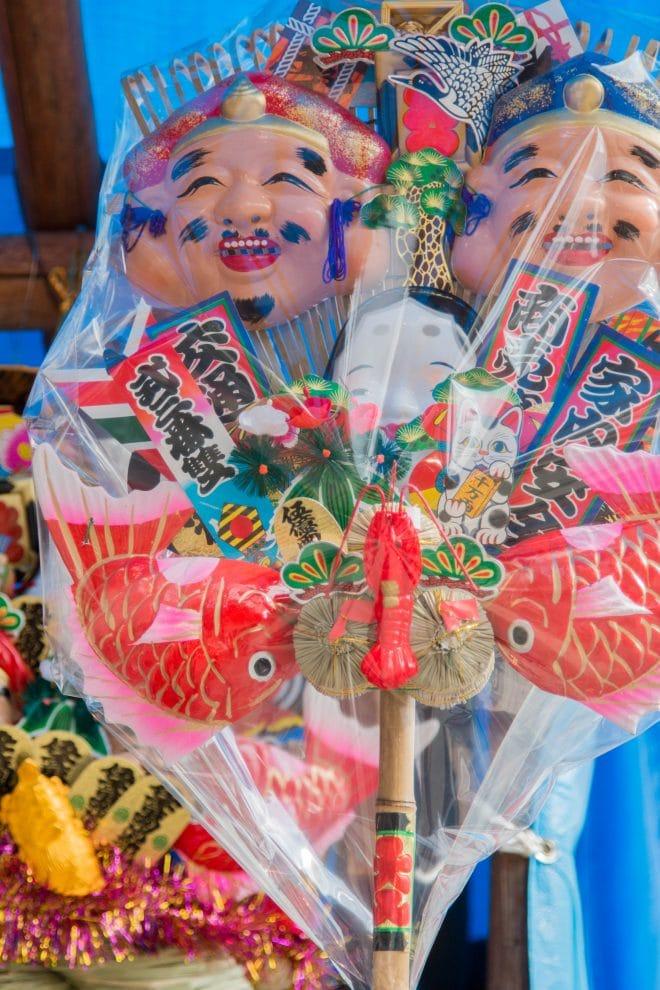 椿祭り熊手