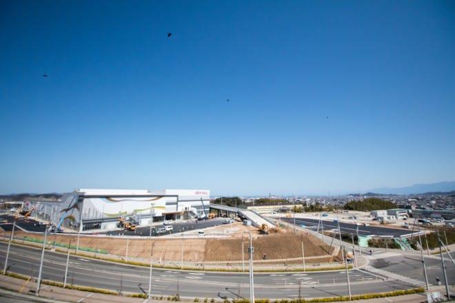建設中のイオンモール今治新都市