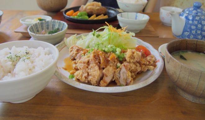 山口里の店揚げ鶏のねぎソース定食1