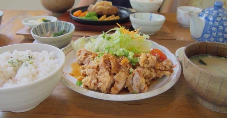 山口里の店揚げ鶏のねぎソース定食2