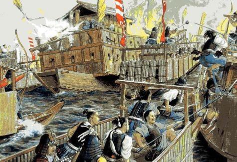 村上海賊 戦国時代の絵