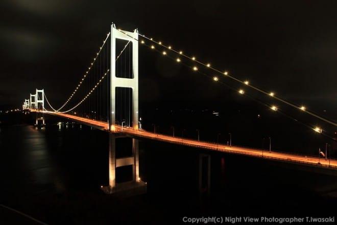 来島海峡大橋夜景