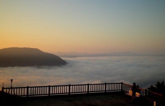 雲海展望公園上から