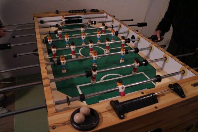 公園裏食堂のサッカーゲーム