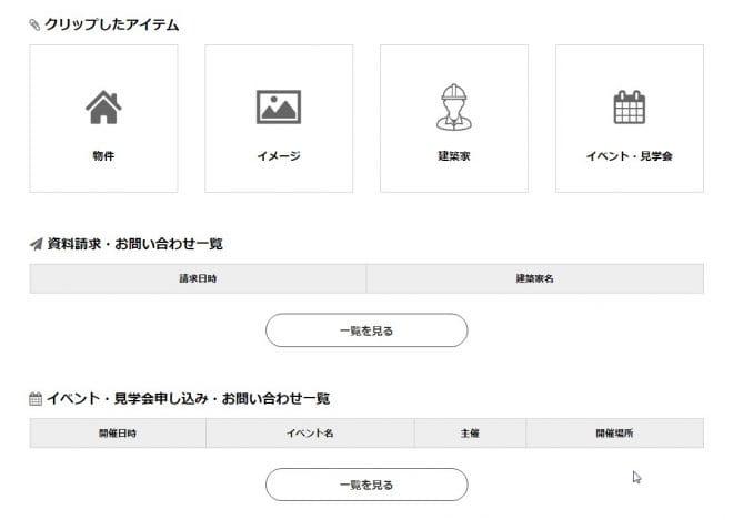 マイページの機能