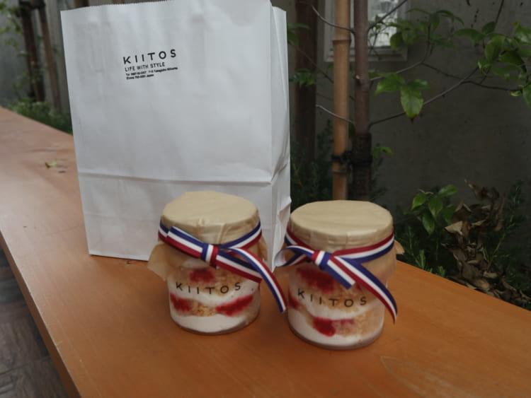 KIITOS ショートケーキパフェと紙袋
