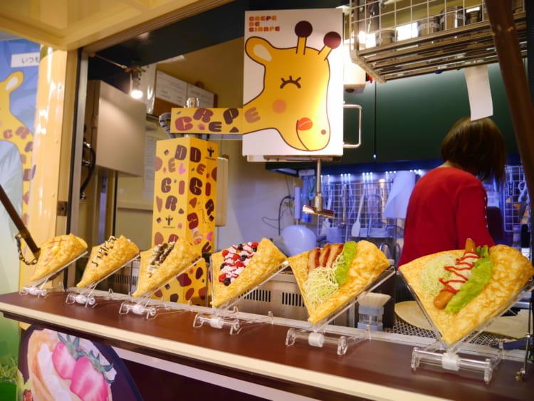 girafecrepe クレープの食品サンプル