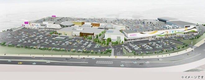 イオンモール今治新都市の駐車場イメージ