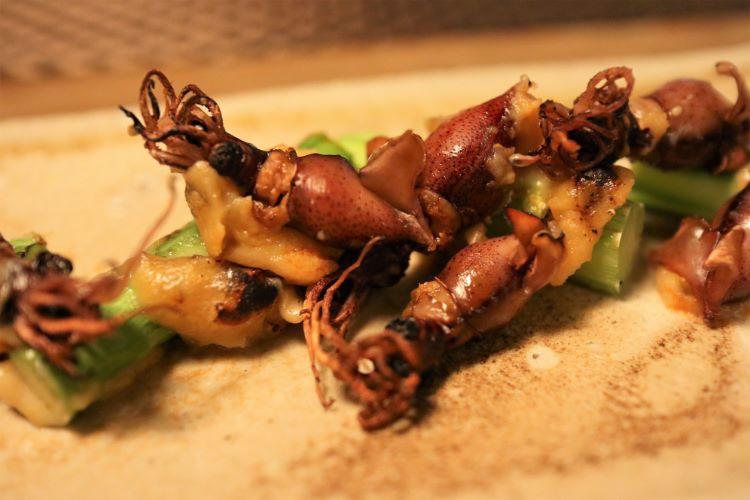 筵 アスパラガスと蛍烏賊の味噌焼き2