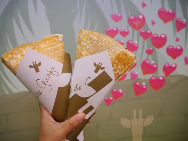 girafecrepe クレープと包み紙