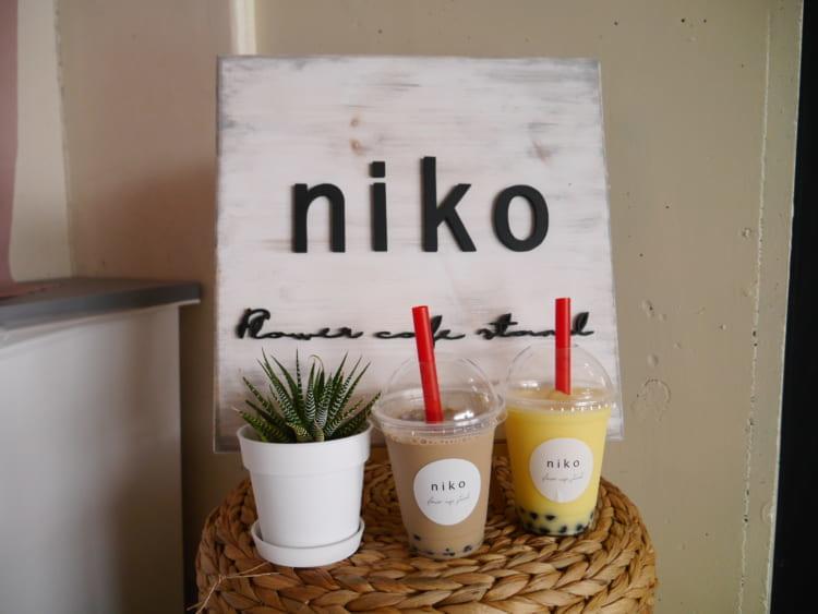niko フォトブースで撮ったタピオカ