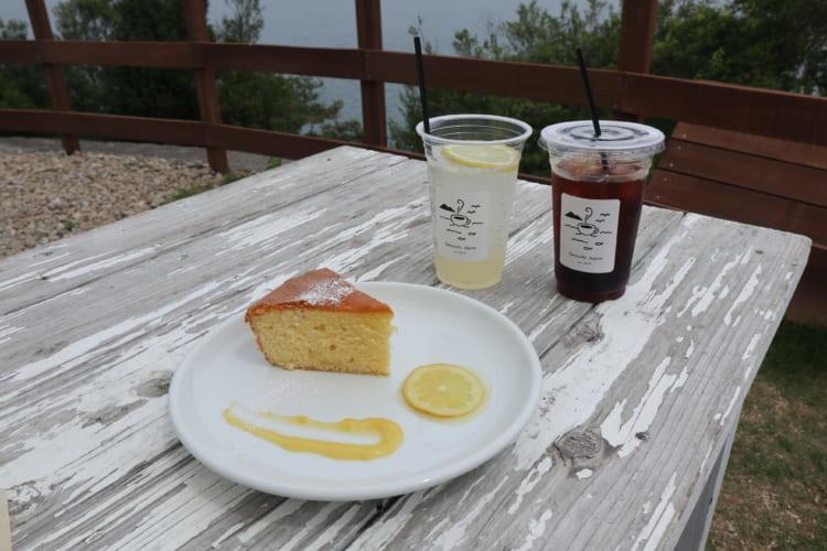 しまなみコーヒー ドリンク2種類とレモンケーキのプレート