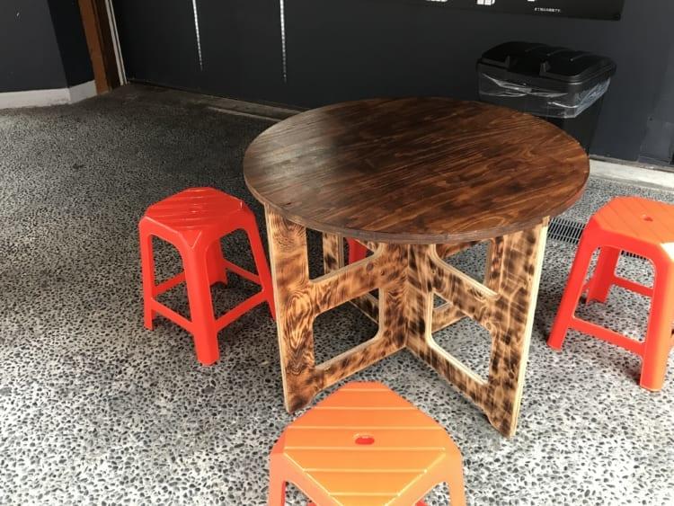リエバオ テーブル席