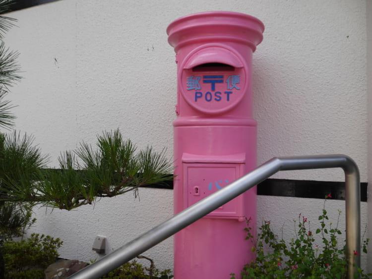 中華そば心 ピンクのポスト