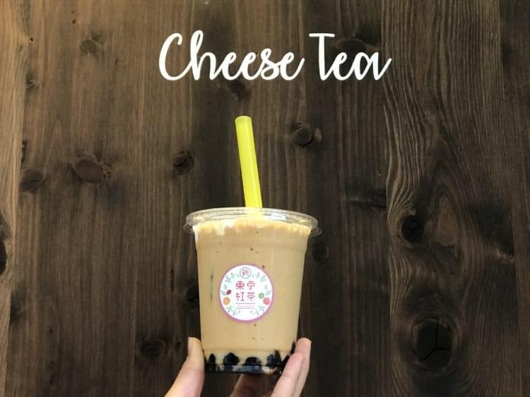 新東京紅茶 ロイヤルミルクとCheese Teaの文字