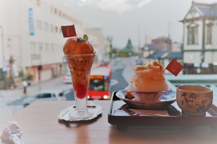 白鷺珈琲 かき氷とパフェ