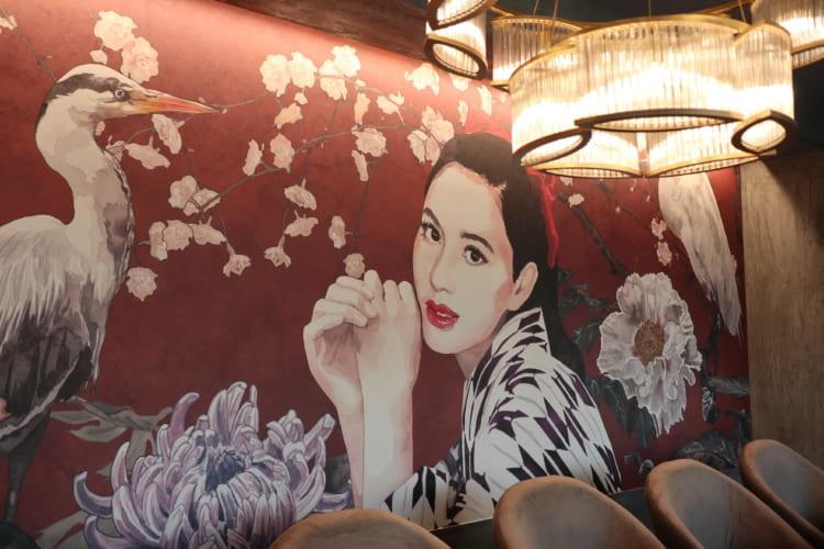 白鷺珈琲 マドンナの壁画