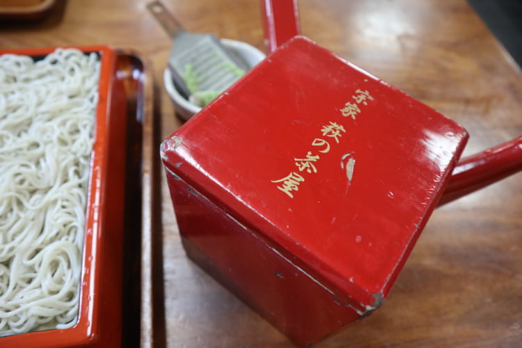 萩 蕎麦湯