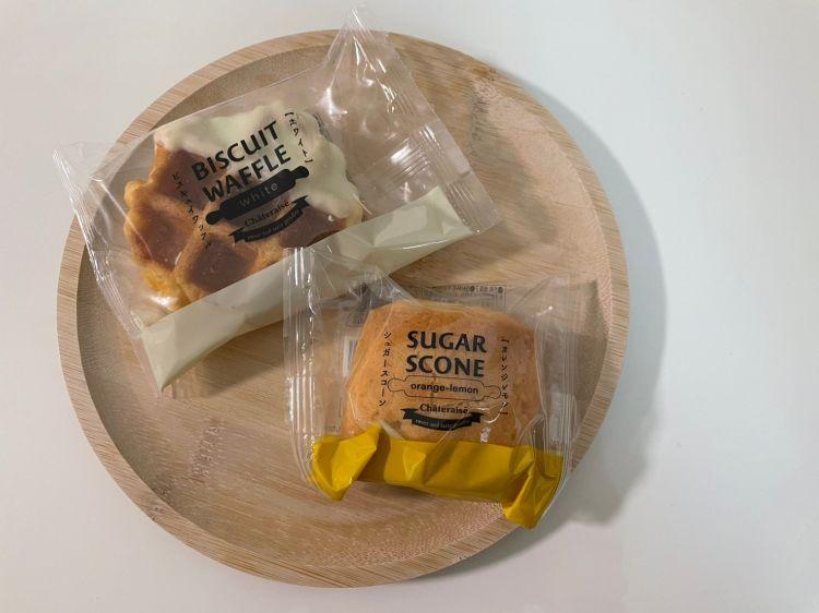 シャトレーゼ 購入品 スコーン・ワッフル