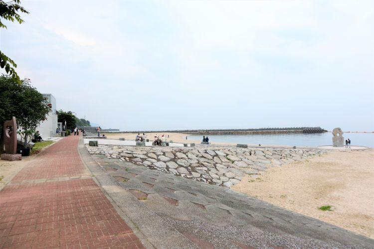 道の駅ふたみ 海側通路