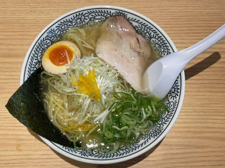 丸源 柚子ねぎ塩ラーメン1