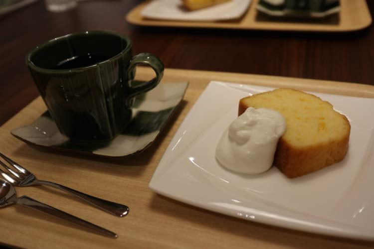 cafeつきしろのケーキセット