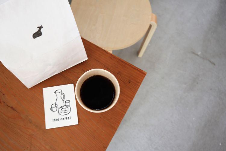 イコイコーヒー 上から見たコーヒー