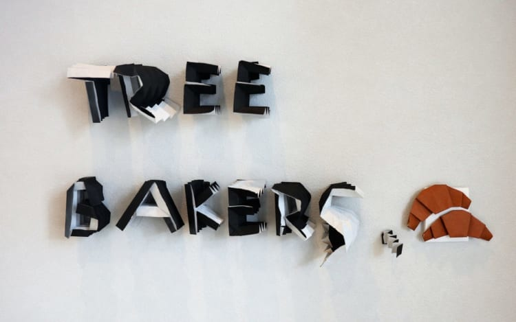 TREE BAKERS 店内ロゴ