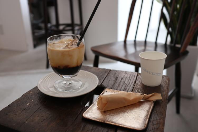rodan アイスカフェオレとチーズケーキ1