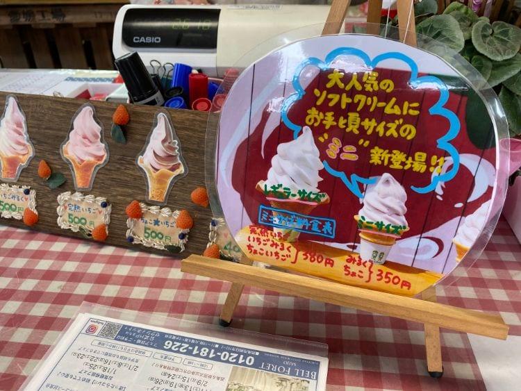 ひの ソフトクリームメニュー写真2