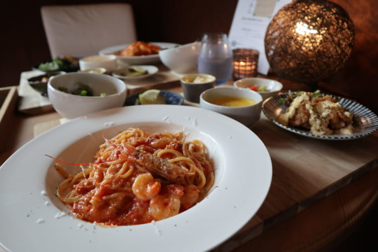 Ciel 海老とトマトのクリームパスタ2