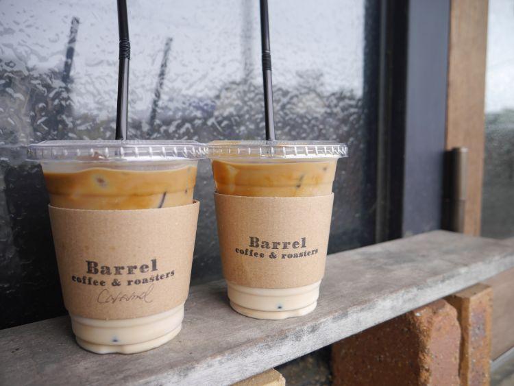 Barrel カフェラテ(アイス)とカフェキャラメル(アイス)