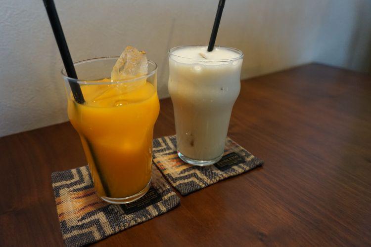 Barrel 玉津みかんのオレンジジュース・ソイバナナ