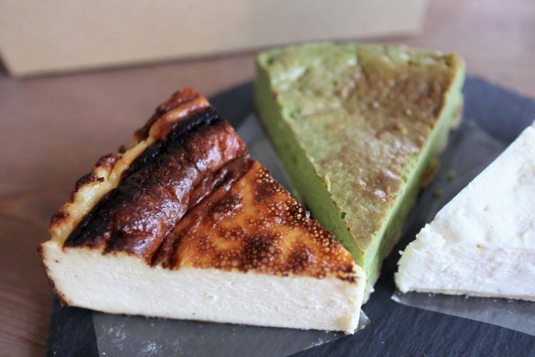 オデヲン 購入したチーズケーキのアップ
