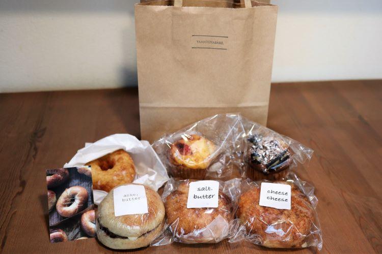 ヤマトヤベイク 購入したパンと紙袋