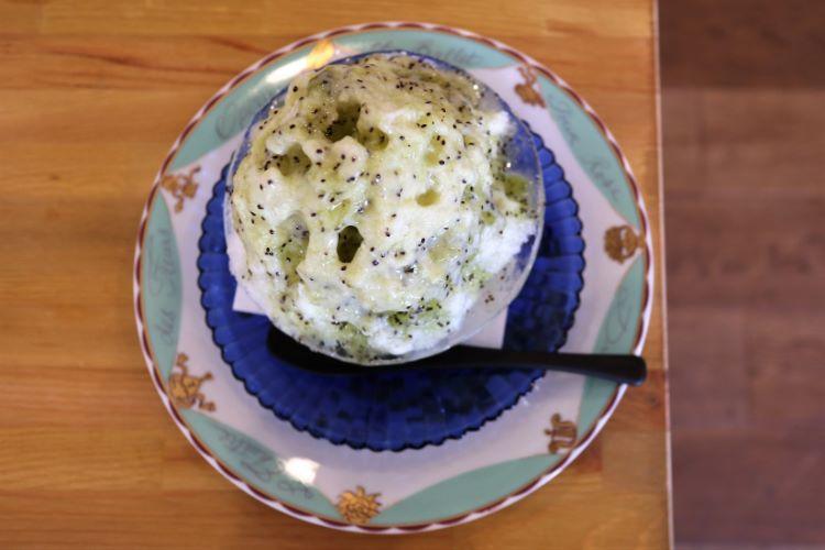 ジョイシェアカフェ キウイのかき氷2