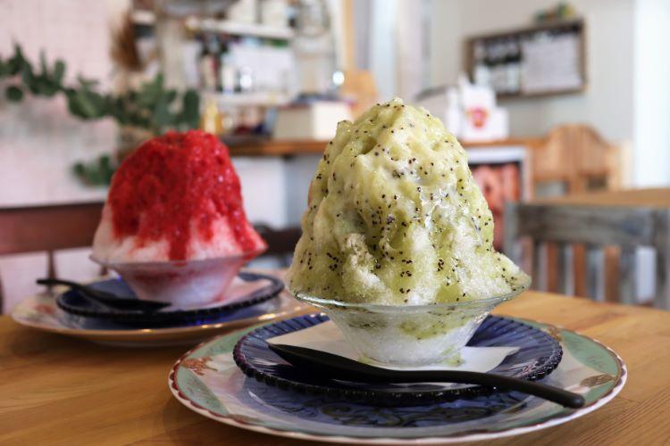 ジョイシェアカフェ かき氷2種
