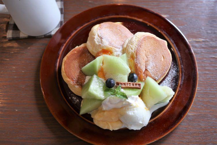 モリカフェ メロンとカスタードのパンケーキ2