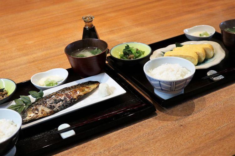 前田食研 炭火焼き鯖定食とだし巻き玉子定食