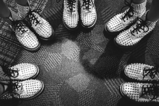 ひめキュンメンバーの衣装の靴