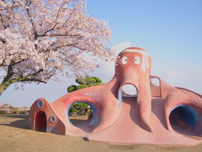 三島公園桜?遊具