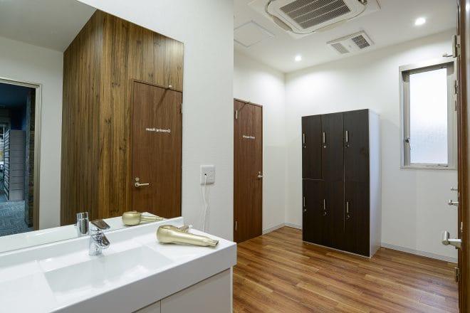 更衣室とシャワー室