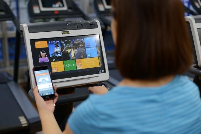 テクノジム製マシンでアプリと連動