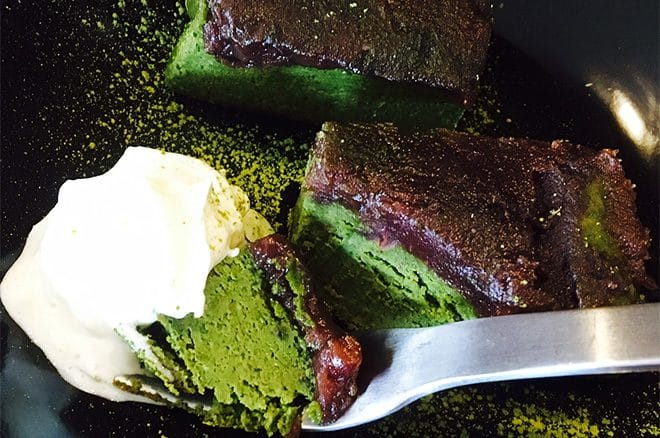 Cafe warm 魚夢『濃厚まっちゃケーキ』