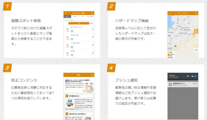 愛媛県防災アプリ 内容