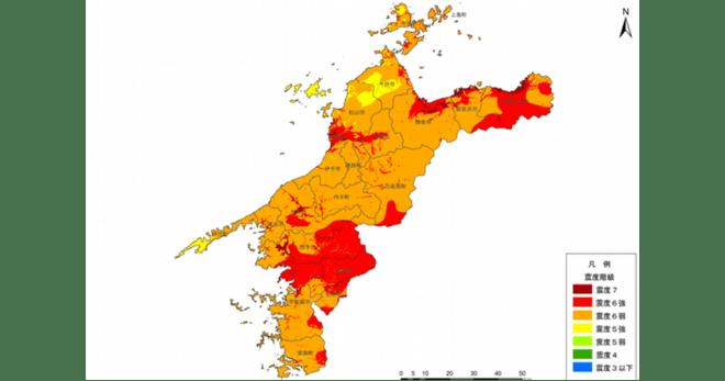 震度 県地図