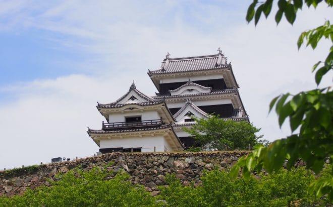 高欄櫓と大洲城