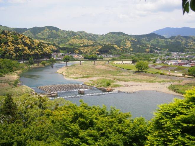大洲城天守閣からの眺め